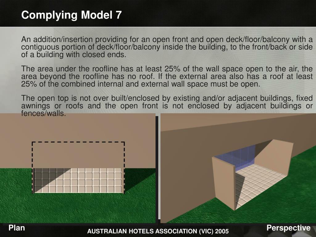Complying Model 7