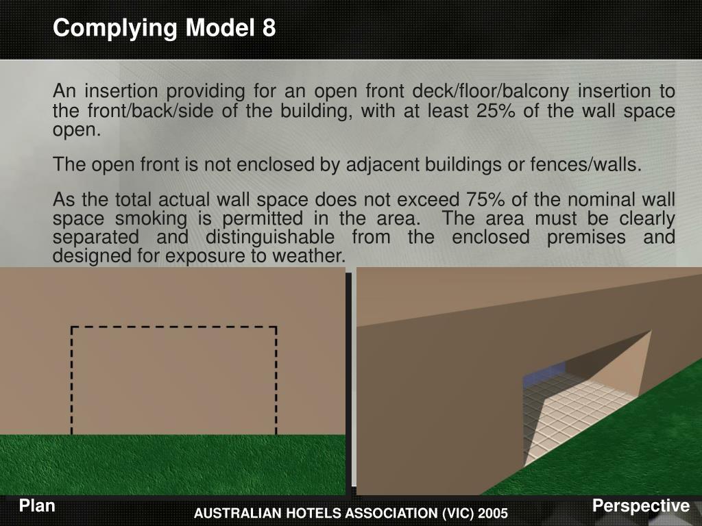 Complying Model 8