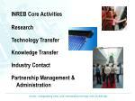 inreb core activities