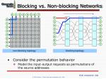blocking vs non blocking networks