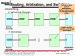 routing arbitration and switching45