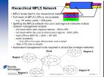 hierarchical mpls network