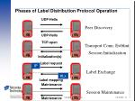 phases of label distribution protocol operation