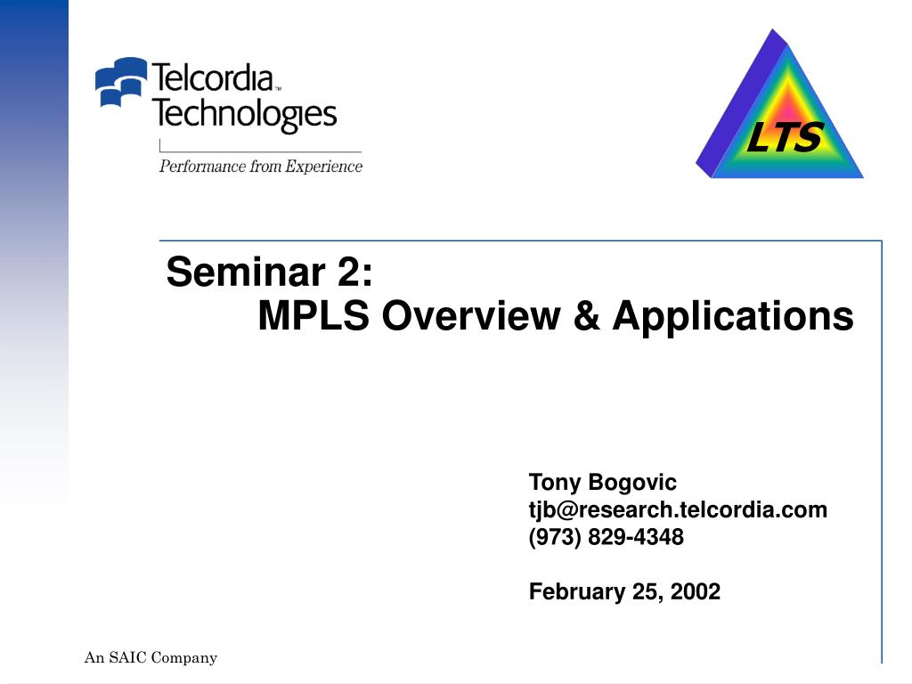 seminar 2 mpls overview applications l.