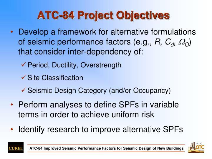 Atc 84 project objectives
