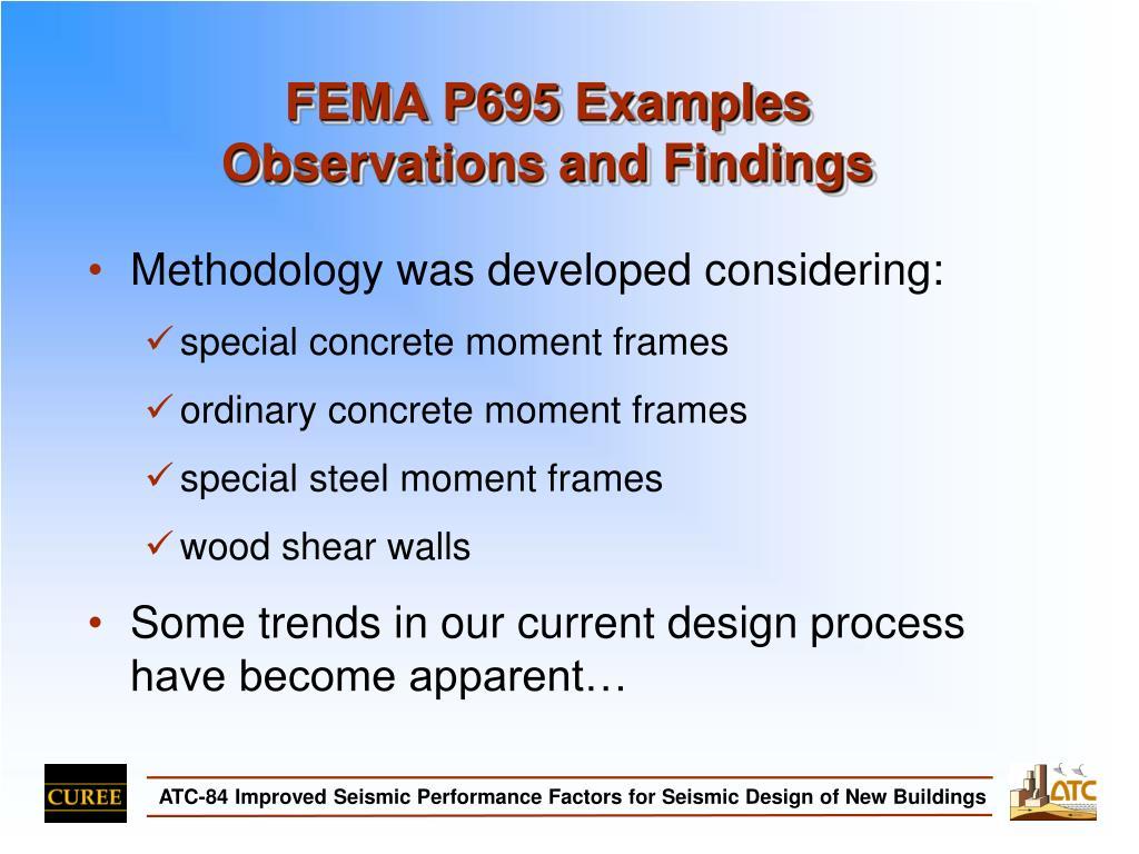 FEMA P695 Examples