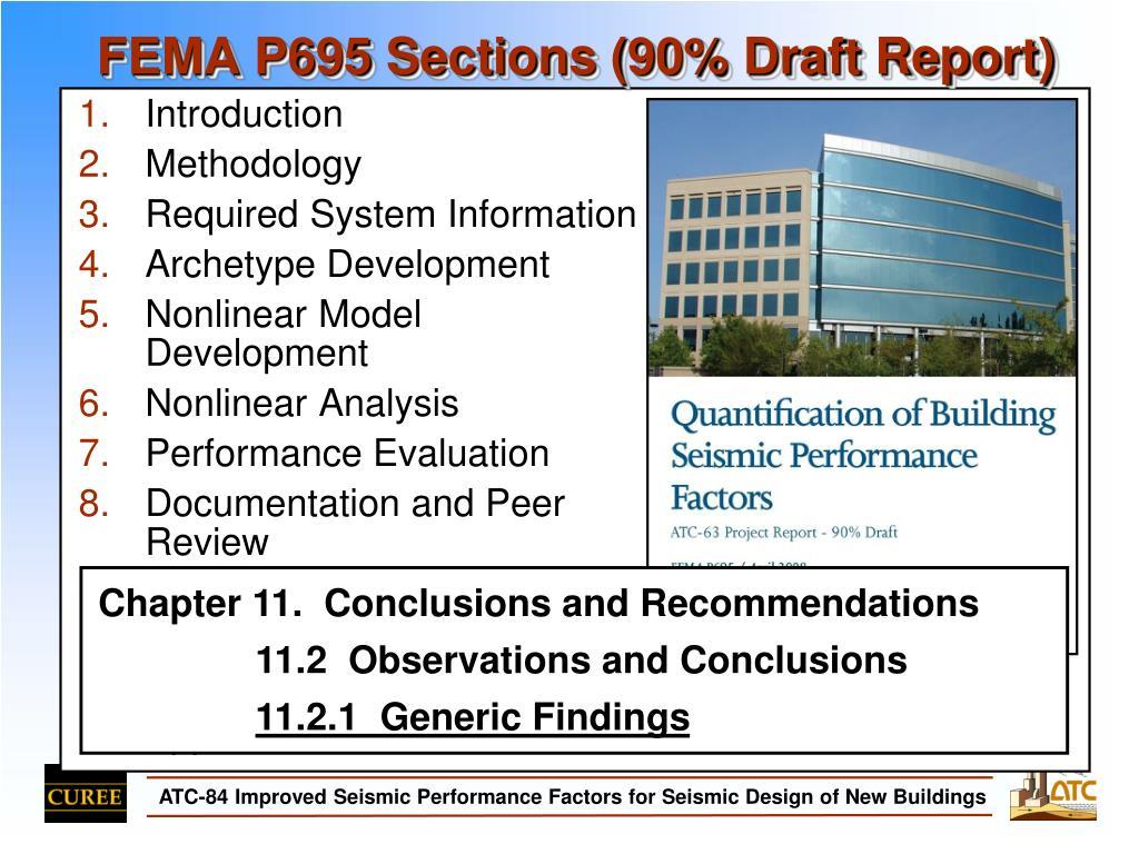 FEMA P695 Sections (90% Draft Report)