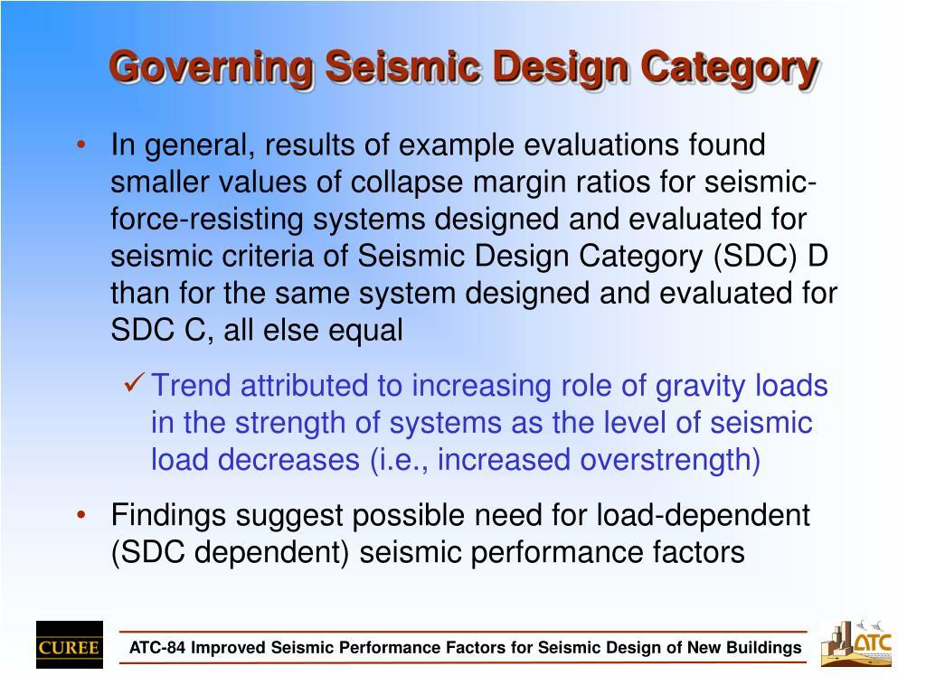 Governing Seismic Design Category