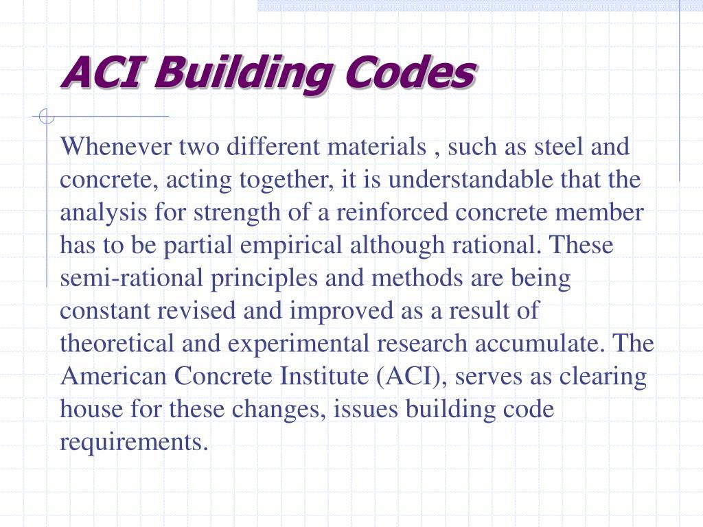 ACI Building Codes