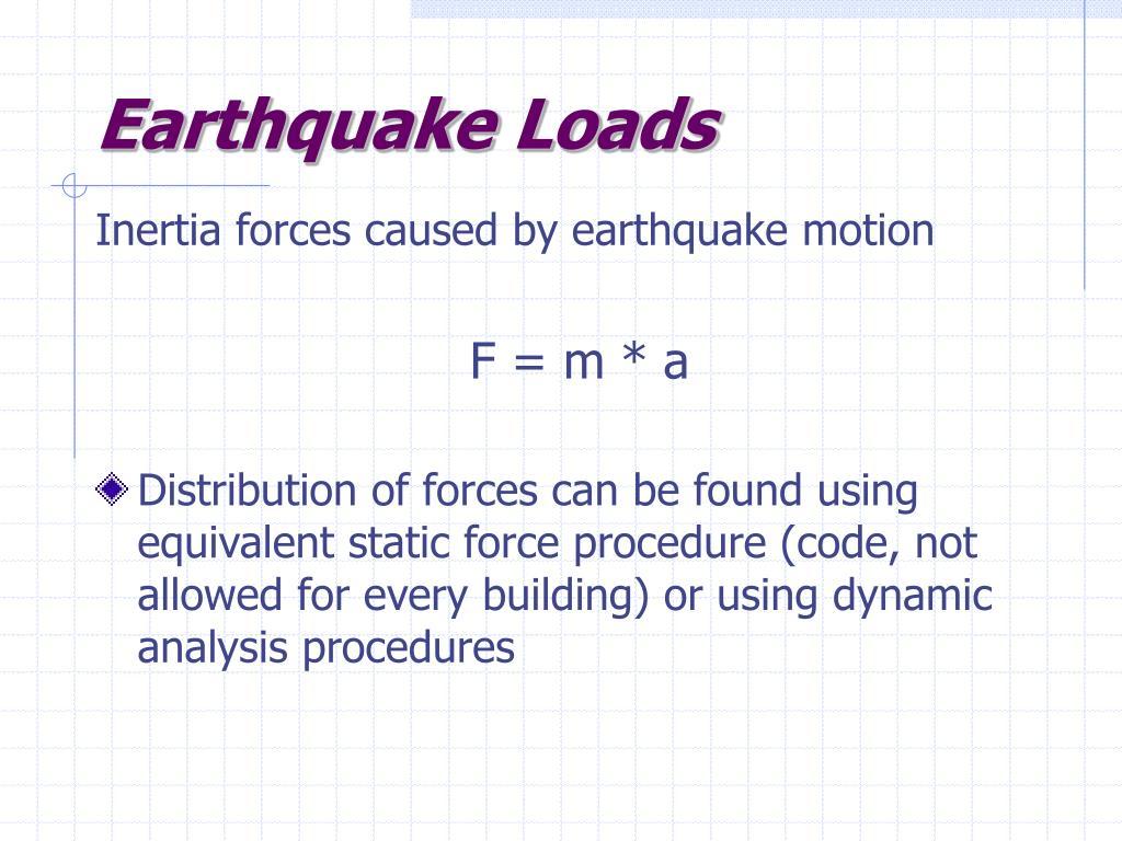 Earthquake Loads