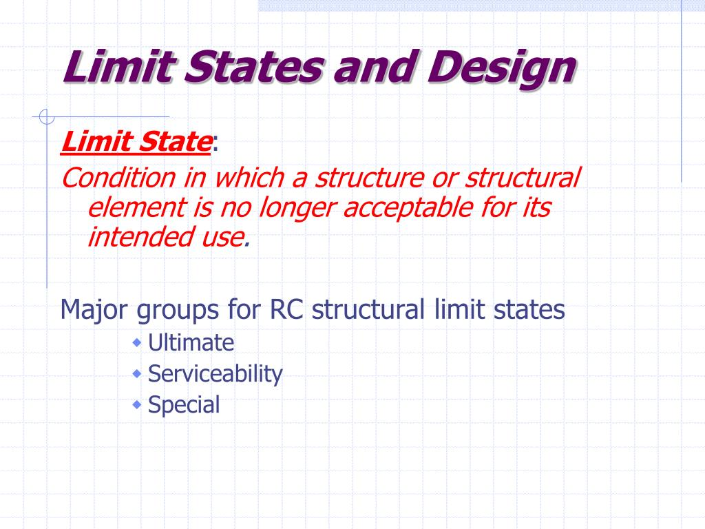 Limit States and Design
