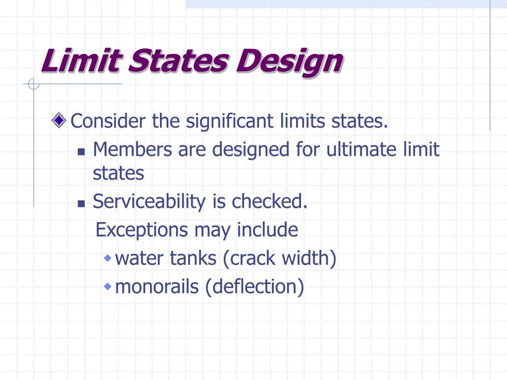Limit States Design