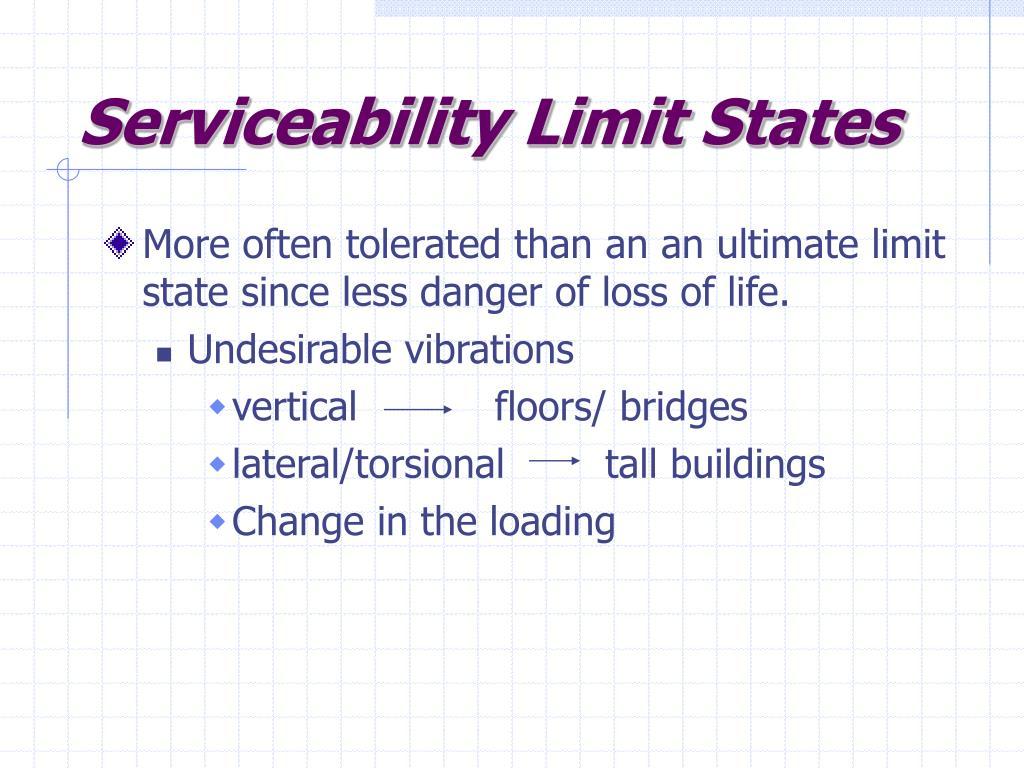 Serviceability Limit States