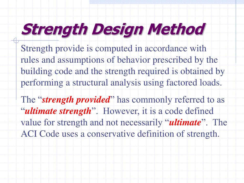 Strength Design Method