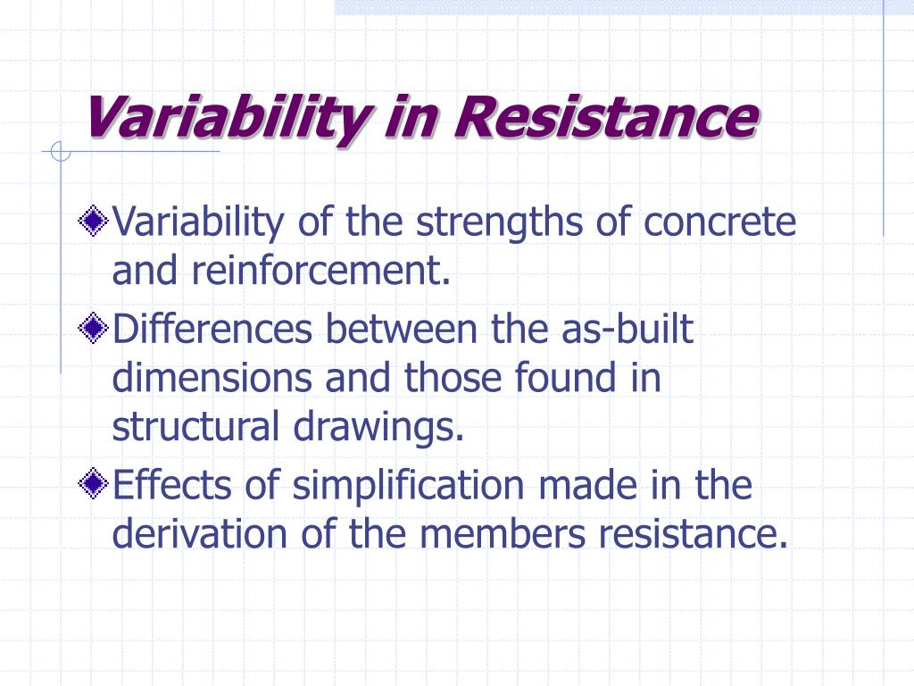 Variability in Resistance