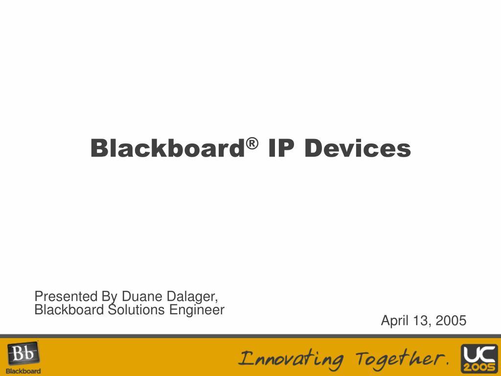 blackboard ip devices l.