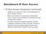 blackboard ip door access24