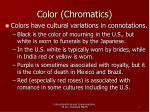 color chromatics