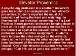 elevator proxemics