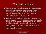touch haptics