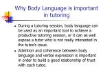 why body language is important in tutoring