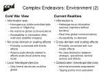 complex endeavors environment 2