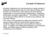 complex endeavors