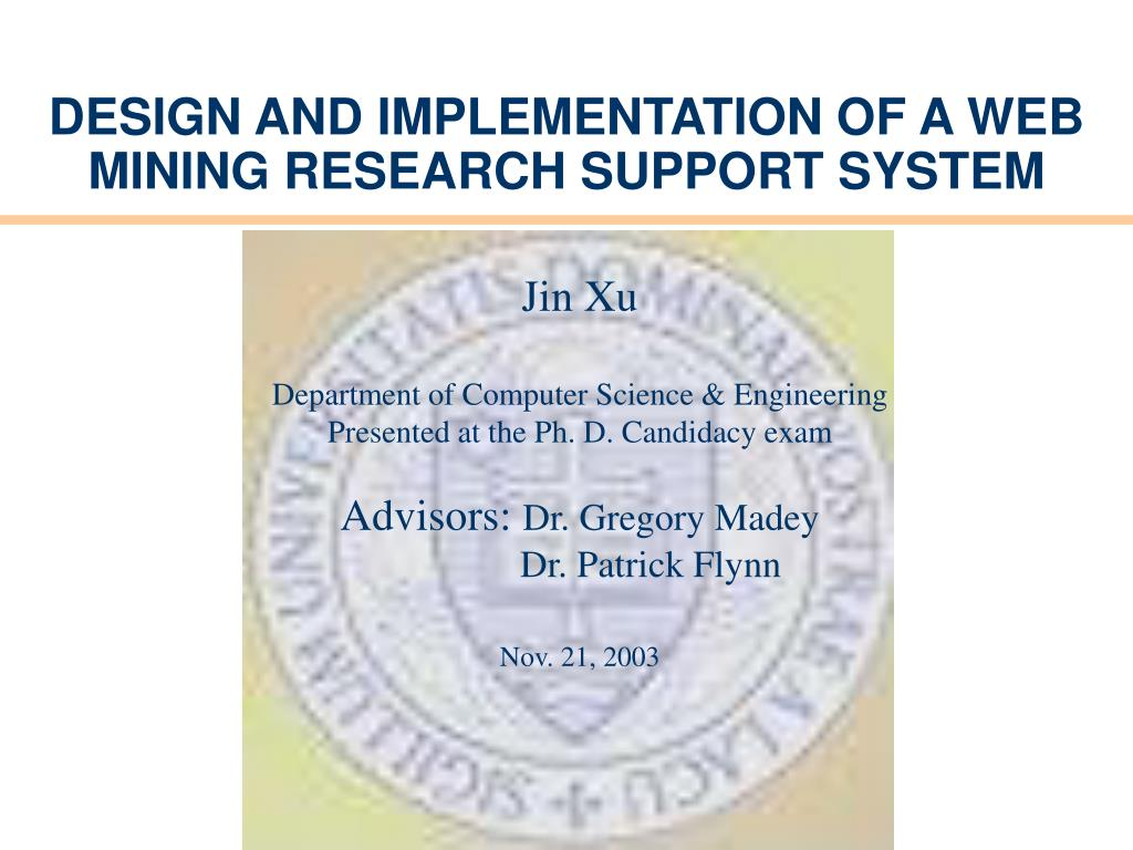 design and implementation of a web mining research support system l.
