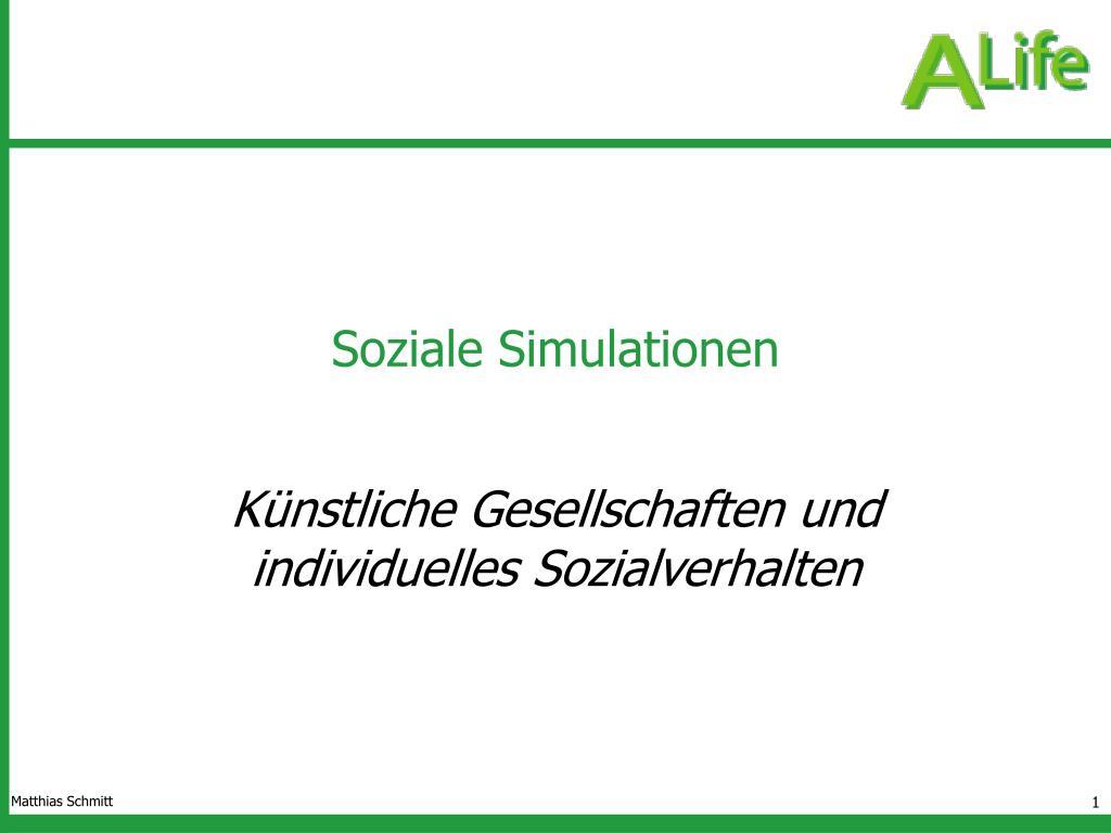 soziale simulationen l.