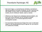theoretische psychologie psi