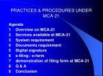 practices procedures under mca 213