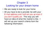 chapter 3 looking for your dream home