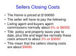 sellers closing costs