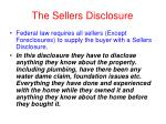 the sellers disclosure