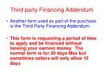 third party financing addendum