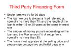 third party financing form