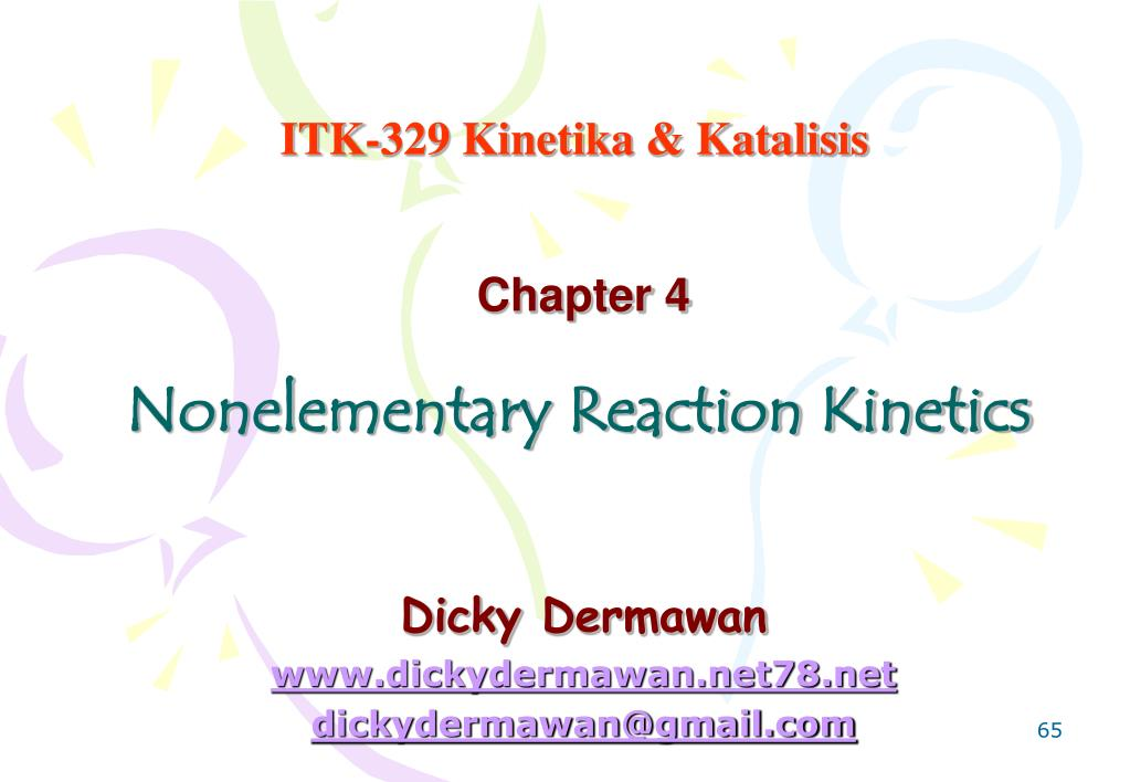 nonelementary reaction kinetics l.