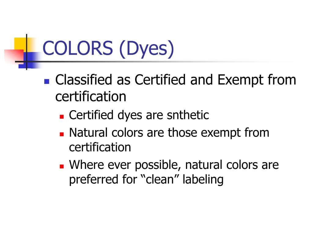 colors dyes l.