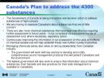 canada s plan to address the 4300 substances