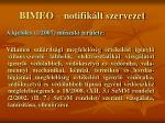 bimeo notifik lt szervezet32