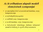 az t er hat son alapul modell elemz s nek szempontjai