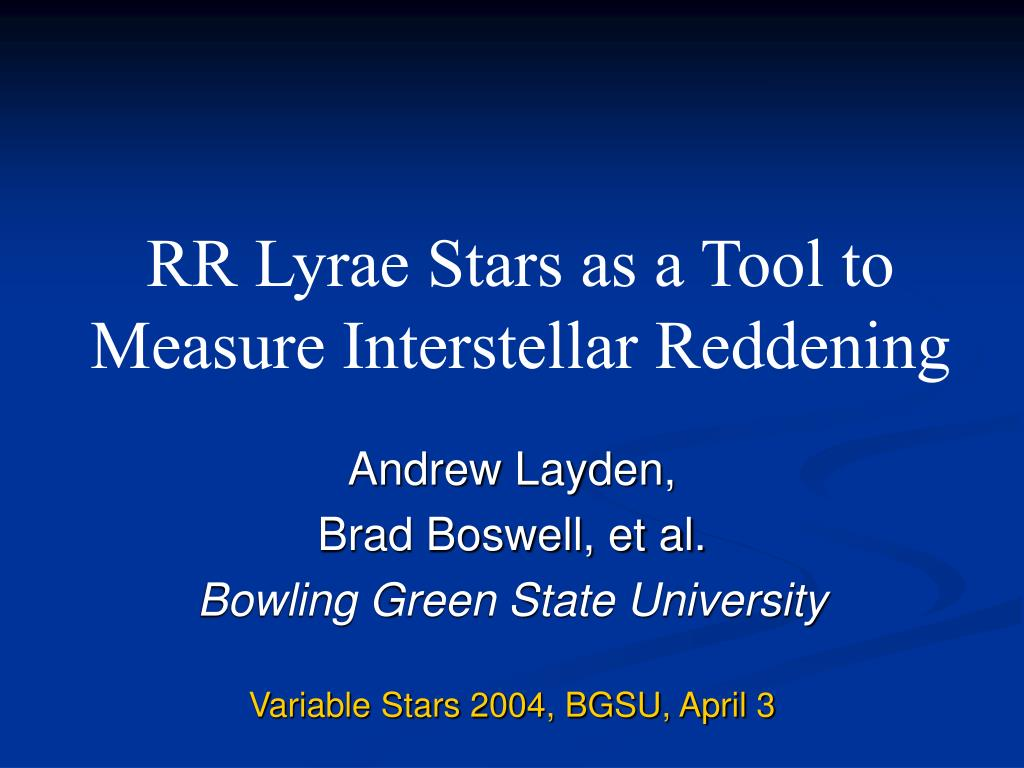rr lyrae stars as a tool to measure interstellar reddening l.