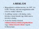 a rekl m
