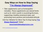 easy ways on how to stop saying i m always depressed10