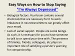 easy ways on how to stop saying i m always depressed4