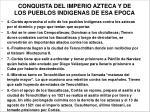 conquista del imperio azteca y de los pueblos indigenas de esa epoca6