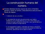 la construcci n humana del n mero