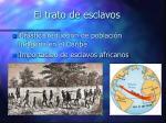 el trato de esclavos