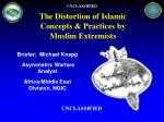 the distortion of islamic concepts practices by muslim extremists