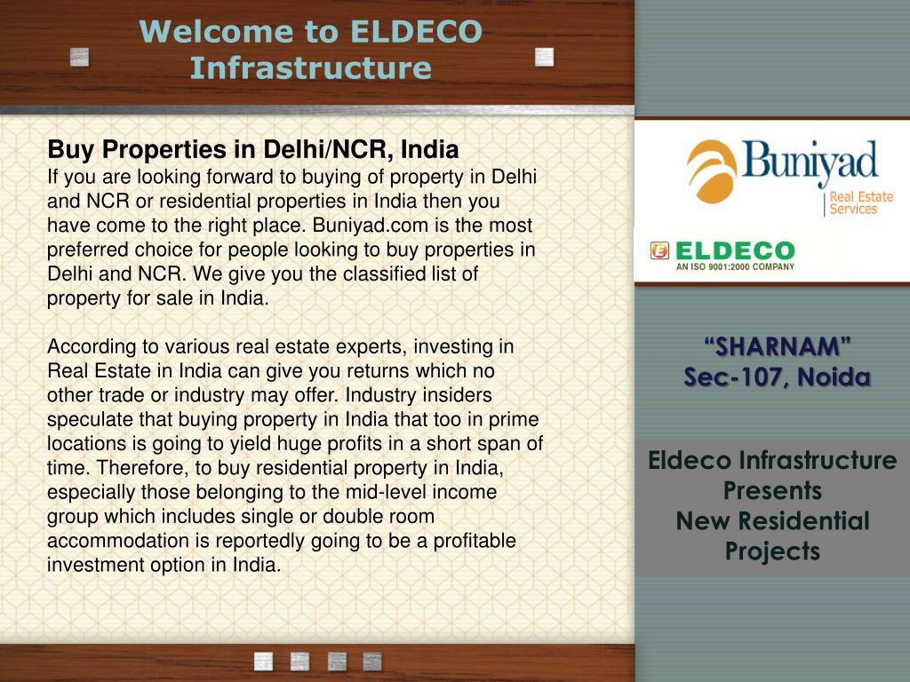 Welcome to ELDECO Infrastructure